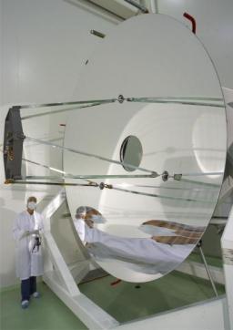 Le miroir du télescope spatial Herschel
