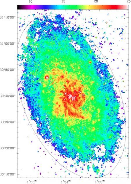 M33: une galaxie voisine encore jeune